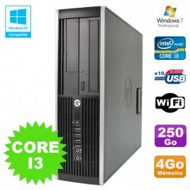 PC HP Elite 8200 SFF Intel Core I3 3.1GHz 4Go Disque 250Go DVD WIFI W7