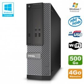 PC Dell Optiplex 3020 SFF Intel G3220 3GHz 4Go Disque 500Go DVD Wifi W7