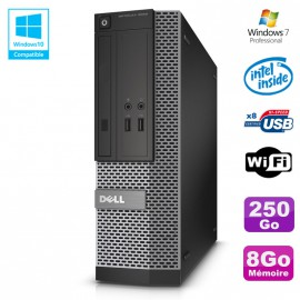 PC Dell Optiplex 3020 SFF Intel G3220 3GHz 8Go Disque 250Go DVD Wifi W7
