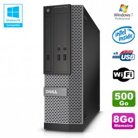 PC Dell Optiplex 3020 SFF Intel G3220 3GHz 8Go Disque 500Go DVD Wifi W7