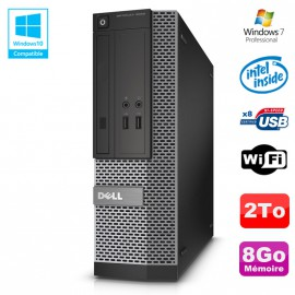 PC Dell Optiplex 3020 SFF Intel G3220 3GHz 8Go Disque 2To DVD Wifi W7