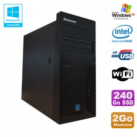 PC Tour Lenovo M58E Intel E5200 2.5GHz 2Go 240Go SSD DVD Wifi XP