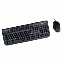 Clavier + Souris USB HEDEN KPC66USBCA AZERTY Keyboard 116 touches Neuf