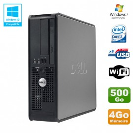 PC DELL Optiplex 780 Sff Core 2 Duo E7500 2,93Ghz 4Go DDR3 500Go WIFI Win 7 Pro