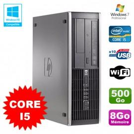 PC HP Compaq Elite 8100 SFF Intel Core i5 650 3.2GHz 8Go 500Go Graveur WIFI W7