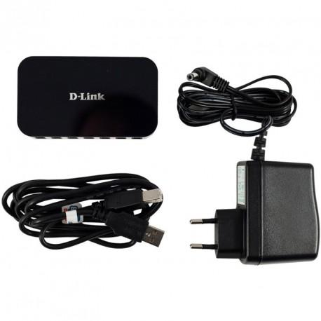 Hub USB PC Mac D-Link DUB-H7 7 Ports USB 2.0 +Bloc Chargeur +Câble USB-AB
