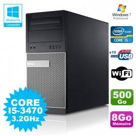 PC Tour Dell Optiplex 790 Intel I5-3470 3.2Ghz 8Go 500Go DVD WIFI Win 7