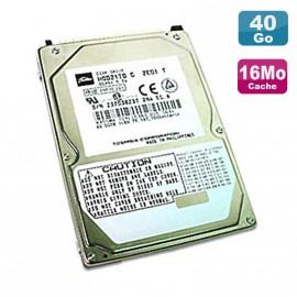 """Disque Dur PC Portable 40Go IDE 2.5"""" Toshiba MK4019GAX 5400RPM 16Mo"""