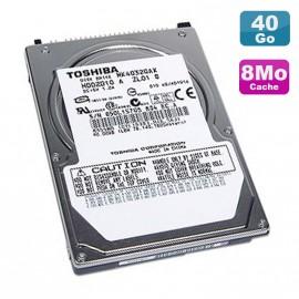 """Disque Dur PC Portable 40Go IDE 2.5"""" Toshiba MK4032GAX 5400RPM 8Mo"""
