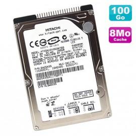 "Disque Dur PC Portable 100Go IDE 2.5"" Hitachi Travelstar HTS541010G9AT00 5400RPM"