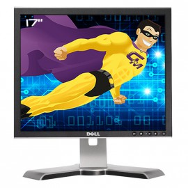 "Ecran Plat PC 17"" DELL 1708FPb LCD TFT 1280x1024 VGA DVI Hub 4x USB Noir Argenté"