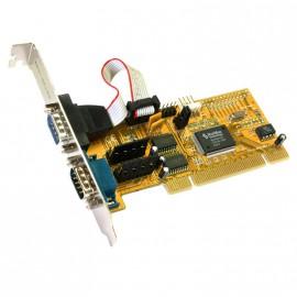Carte PCI 2 Ports RS-232 Série DB9 EXSYS Moschip EX-41052 Rev.D PC