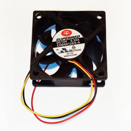 Ventilateur Fan Cooler SUPERRED CHD6012ES-A 6 cm 3 Pins 0.30A Lenovo IBM