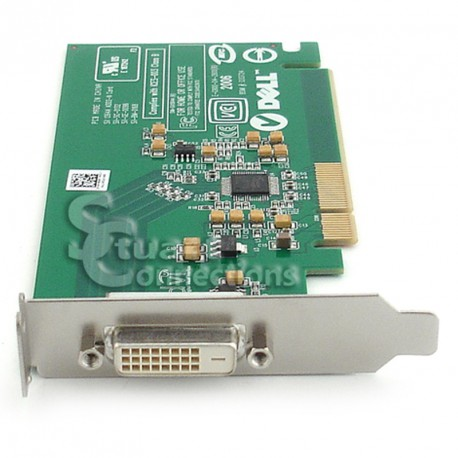 Carte Adaptateur Dell Sil1364A 0FH868 PCI-Express x16 DVI ADD2-N Low Profile
