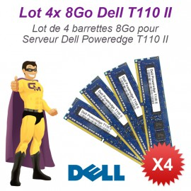 Lot 4x 8Go 32Go Ram Serveur Dell T110 II DIMM 240-PIN DDR3 PC3-12800E ECC 2Rx8