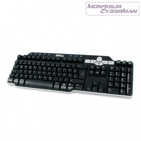 Clavier Multimedia Dell SK-8135 AZERTY 0DJ348 Keyboard Slim Hub USB