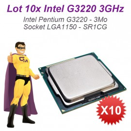 Lot 10x Processeurs CPU Intel Pentium G3220 3Ghz 3Mo 5GT/s FCLGA1150 SR1CG