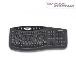 Clavier Multimedia Microsoft KU-0459 Comfort Curve Keyboard 2000 Azerty Usb