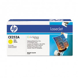 Cartouche Toner 504A CE252A HP Original Color LaserJet CP3525 Serie JAUNE Encre