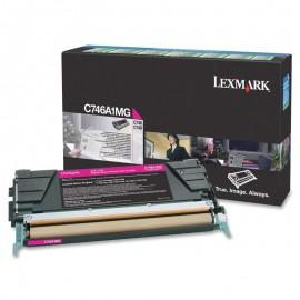 Cartouche Toner C746A1MG Laser Lexmark Original C746 C748 ROUGE MAGENTA Encre