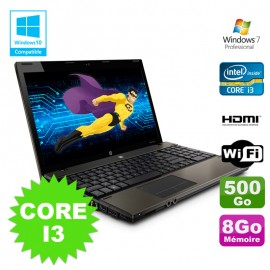 PC Portable 15.6 HP ProBook 4520s Core I3-370M 2.4Ghz 8Go Disque 500Go W7 Pro