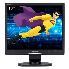 """Ecran PC Pro 17"""" PHILIPS 17S1SB LCD TFT VGA DVI 1280x1024 60Hz VESA 43cm 5:4"""