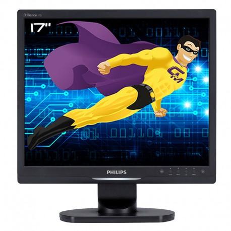 """Ecran PC Pro 17"""" PHILIPS 17S1SB LCD TFT VGA DVI 1280x1024 60Hz VESA Widescreen"""