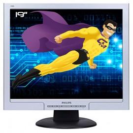 """Ecran PC Pro 19"""" PHILIPS 190S8FS HNS8190T LCD TFT VGA DVI VESA 1280x1024 Gris"""