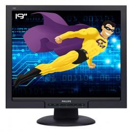 "Ecran PC Pro 19"" PHILIPS 190S8FB MNS8190T LCD TFT VGA DVI VESA 1280x1024 48cm"