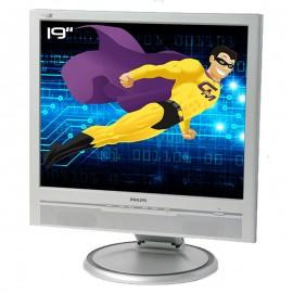 """Ecran PC Pro 19"""" PHILIPS 190B6CS A3KM141 LCD TFT VGA DVI 1x USB 2x Audio IN VESA"""