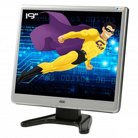 """Ecran Plat PC 19"""" AOC 197Sj TFT1980PSA+ LCD TFT TN VGA Audio IN VESA 1280x1024"""