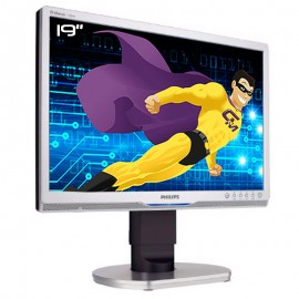 "Ecran PC Pro 19"" PHILIPS 190BW9CS HWB9190T LCD TFT VGA DVI USB Audio VESA Wide"