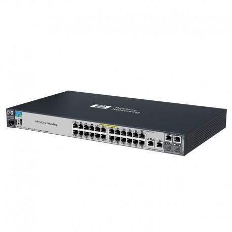 Switch Rack 24 Ports RJ45 HP J9138A 10/100/1000Mbps 2x Combo GIGABIT POE