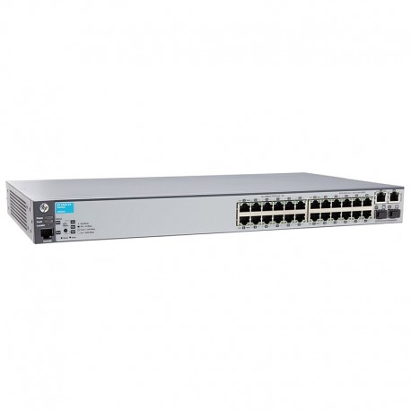 Switch Rack 24+2 Ports RJ-45 HP J9623A 10/100/1000Mbps 2x GBIC SFP GIGABIT