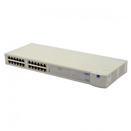 Switch Rack 24 Ports RJ-45 3COM SuperStack II 3C16441 10 Mbps Ethernet