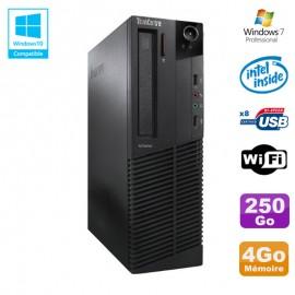 PC Lenovo M91p 7005 SFF Intel G630 2,7Ghz 4Go Disque 250Go WIFI W7 Pro