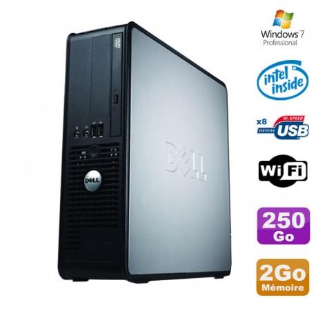 PC Dell Optiplex 380 SFF E5200 2.5Ghz 2Go Disque 250Go DVD WIFI Win 7 Pro