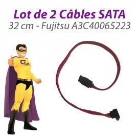 Lot x2 Câbles SATA A3C40065223 Fujitsu Siemens Esprimo E5700 E5905 32cm Rose