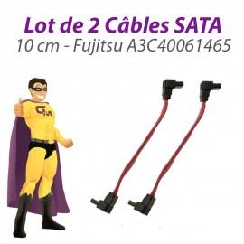 Lot x2 Câbles SATA A3C40061465 Fujitsu Siemens Esprimo C5900 10cm Rose