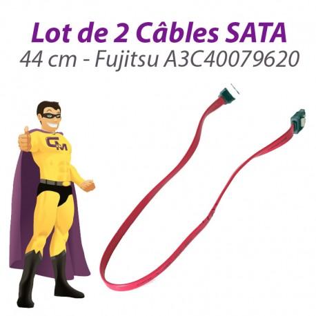 Lot x2 Câbles SATA A3C40079620 Fujitsu Siemens Esprimo E5925 44cm Rose