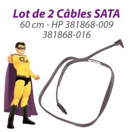 Lot 2 Câbles SATA HP 381868-009 381868-016 Proliant ML110 DC5800 60cm Gris Foncé