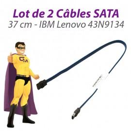 Lot 2 Câbles SATA IBM Lenovo FRU 43N9134 Thinkcentre M58 USFF 37cm Bleu