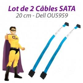 Lot 2 Câbles SATA Dell OU5959 U5959 Dell Optiplex 20cm Bleu