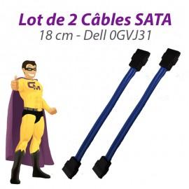 Lot 2 Câbles SATA Dell 0GVJ31 Dell Optiplex 960 210l GX520 GX620 3020 18cm Bleu