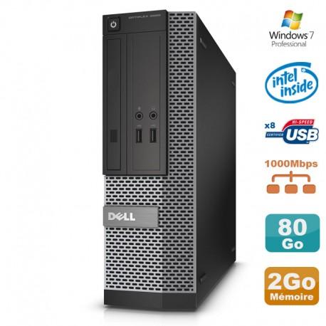 PC Dell Optiplex 3020 SFF Intel G3220 3GHz 2Go Disque 80Go DVD W7