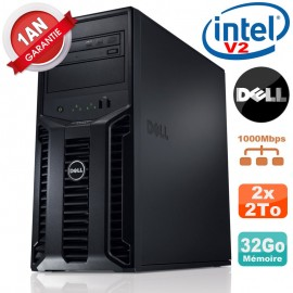 Serveur DELL PowerEdge T110 II NR Xeon Quad Core E3-1220 V2 32Go Ram Ecc 2x 2To