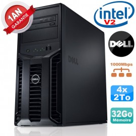 Serveur DELL PowerEdge T110 II NR Xeon Quad Core E3-1220 V2 32Go Ram Ecc 4x 2To