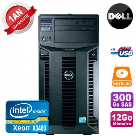 Serveur DELL PowerEdge T310 Xeon Quad Core X3460 12Go Ram Ecc 300Go SAS