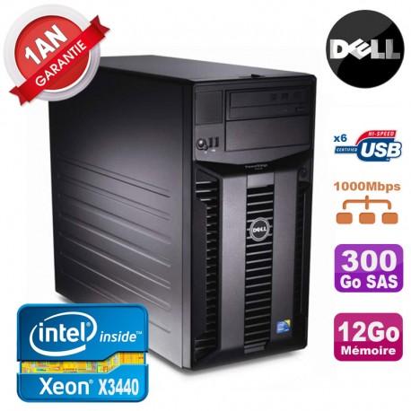 Serveur DELL PowerEdge T310 Xeon Quad Core X3440 12Go Ram Ecc 300Go SAS
