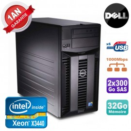 Serveur DELL PowerEdge T310 Xeon Quad Core X3440 32Go Ram Ecc 2x 300Go SAS